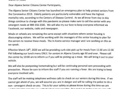 Covid Letter 3-17-20